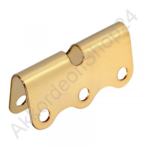 Blech für Bassriemen 41 mm, Farbton Gold