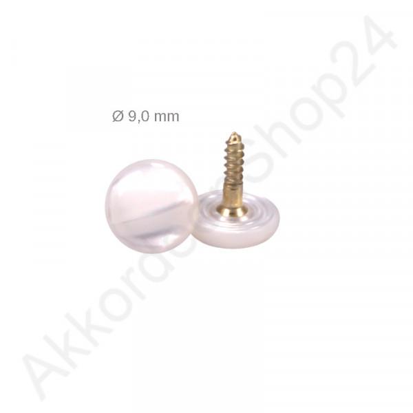 Ø9,0mm Bassknopf perlmuttweiß