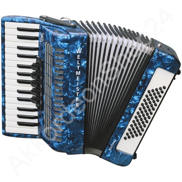 Akkordeon-Kristall-blau