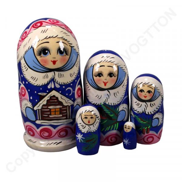 """Matroschka Neujahr """"Mädchen"""" 5 teilig"""