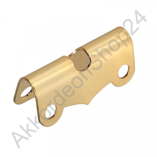 Blech für Bassriemen 34 mm, Farbton Gold