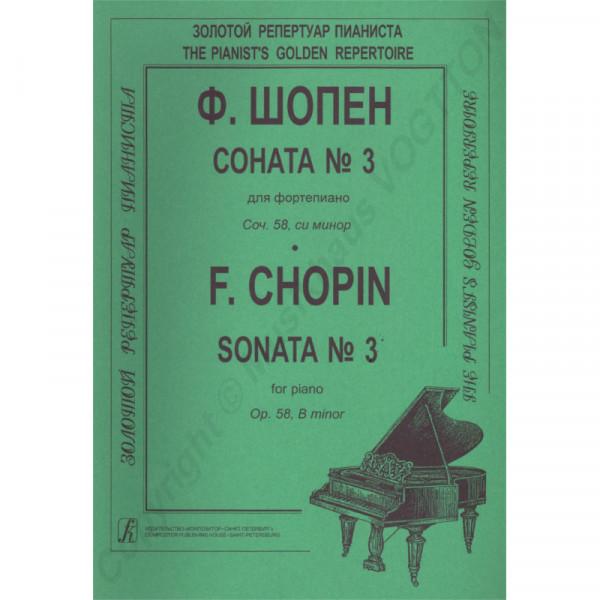 Frederic Chopin Sonate Nr. 3 für Klavier, Herausgeber K. Mikuli