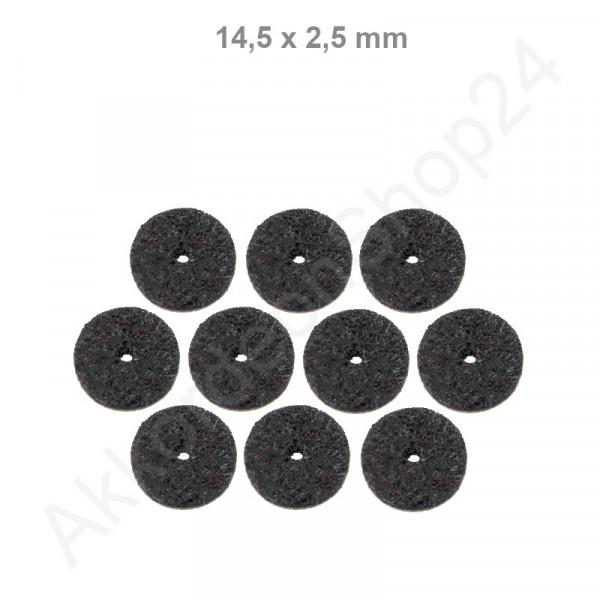 10Stk. Filzringe 14,5 x 2,5 mm, schwarz