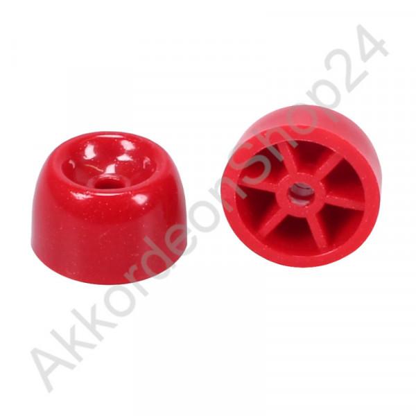 Bassfuss Ø 22 mm, Kunststoff rot