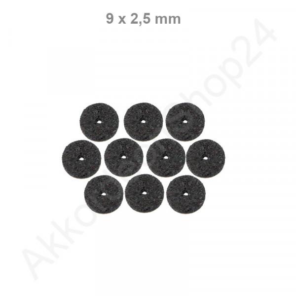 10Stk. Filzringe 9 x 2,5 mm, schwarz