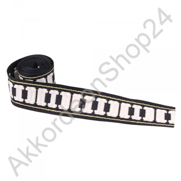 28mm Band schwarz, Motiv Tastatur
