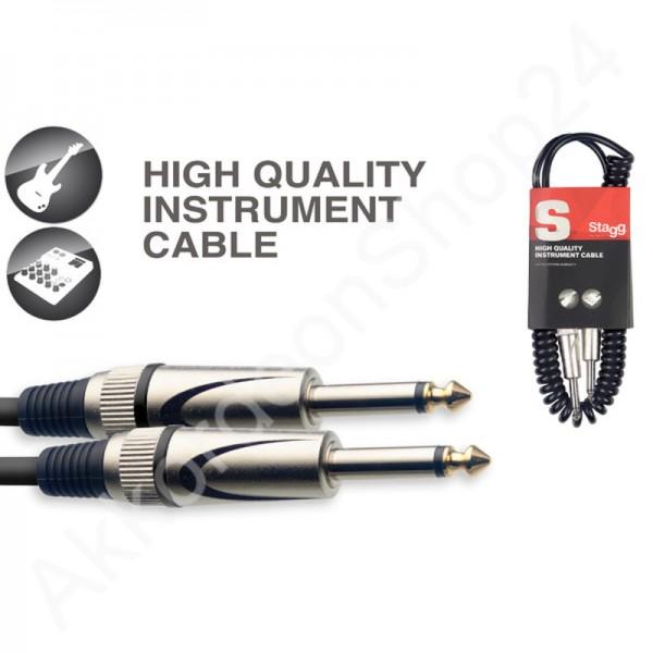 Stagg Instrumentenkabel Spiral SGCC3 DL - 3m