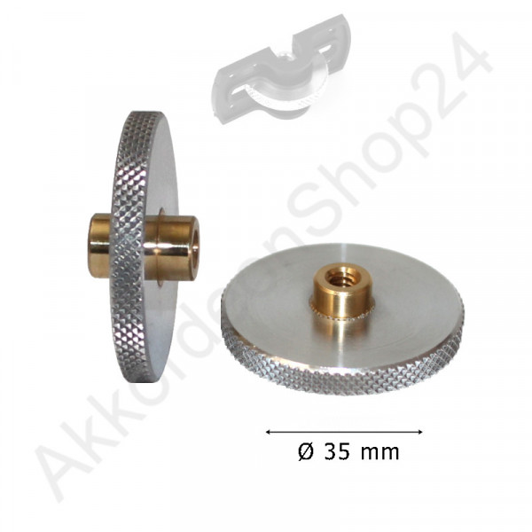 Feinverstellungsrad 35 x 4,5mm, Aluminium