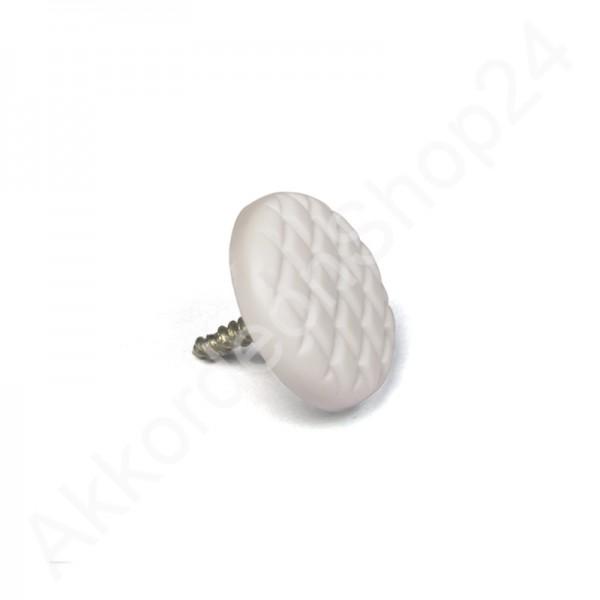 Diskantknopf-Knopfakkordeon-geriffelt-weiß
