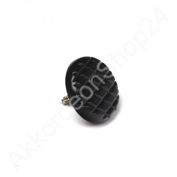 Knopfakkordeon-Diskantknopf-geriffelt-schwarz-perloid-16mm