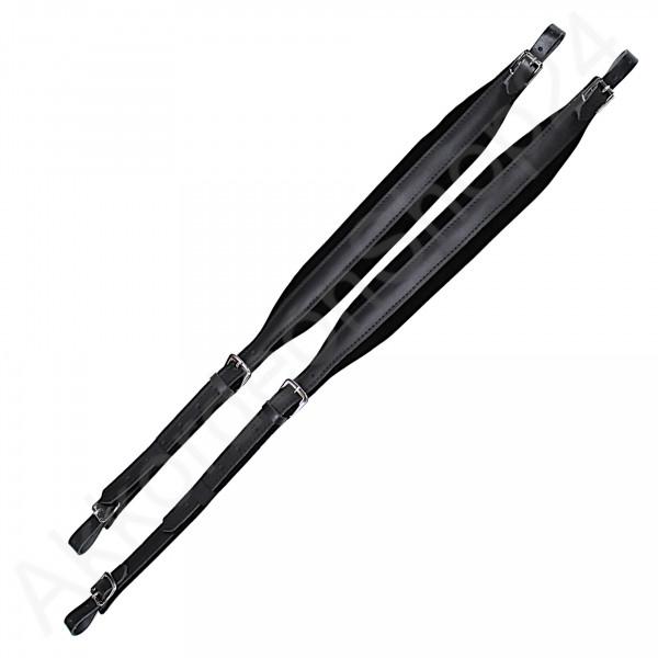 Tragriemen 34/41, 6,5x84-105 cm, Leder Samt - schwarz
