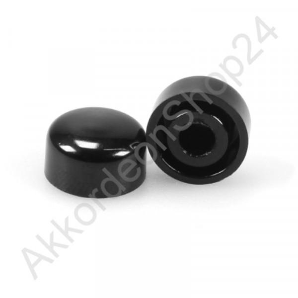 Ø13,0x7,5mm Diskantknopf für Wiener, schwarz