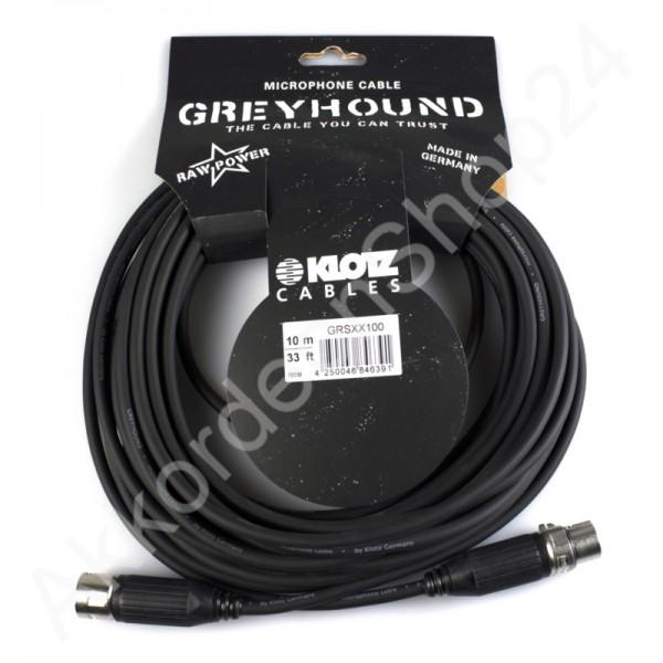 Klotz Greyhound XX100 Mikrofon- / XLR Kabel 10m